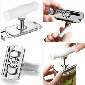 2Pcs Can Opener Jar Bottle Adjustable Manual Stainless Steel Easy Kitchen Tool
