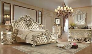 Victorian Champagne KING Bedroom Set 6 Pcs HD-8022 Homey Design Traditional