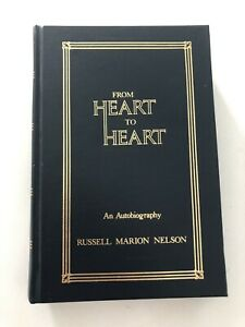 From Heart to Heart Russell M Nelson Autobiography Hardcover Mormon LDS RARE