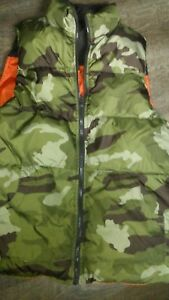 Youth XL Old Navy Reversible Hunting Camoorange Vest Used