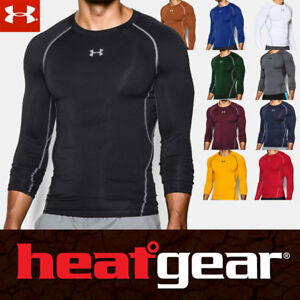 UNDER Armour UA HeatGear SHIRT BASE LAYER COMPRESSION Long Sleeve Men Crew Neck $34.95