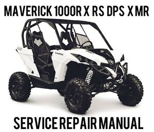 BEST 2013 CanAm Maverick 1000R X RS DPS X MR Shop Service Repair Manual CD
