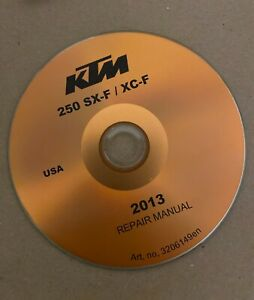 BEST 2013 KTM 250 SX F 250 XC F Service Repair Shop Manual on CD