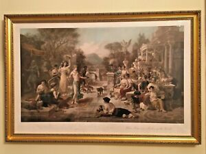 2 x Antique Lithographs Emanuel Oberhauser Classical Scenes GBP 420.00