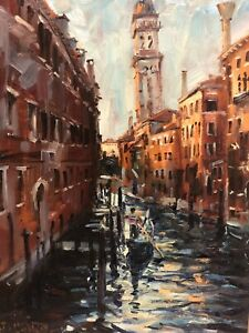 DANIEL IZZARD- Late Afternoon Venice- Oil on Canvas C.1982