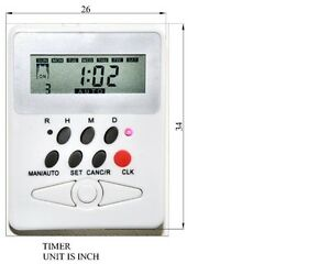 24 7 20 Modes Programmable Timer For Remote Electric Roller Shades CL338H motor