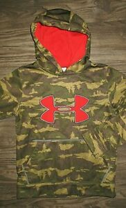 Under Armour Camouflage Hoodie Camo Orange Boys Youth Small $19.99