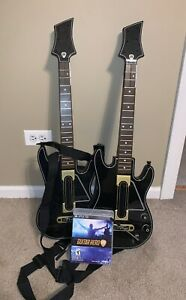 Ps3 2 Guitar Hero Live Guitars With Straps Game - No Dongle