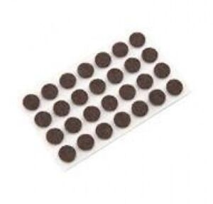 100 pcs Brown Felt Pad Button 1 2 x 1 16 Adhesive Backed Surface Protection