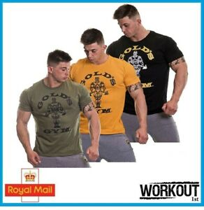 Golds Gym Mens Muscle Joe T Shirt Muscle Fit 100% Authentic Bodybuilding $21.46