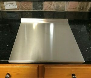 Stainless steel cutting board. counter top protector.  Size 14 1/2'' x 12''