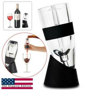 Wine Aerator Decanter Pourer Purifier & Filter with Stand for Red Wine US Gifts