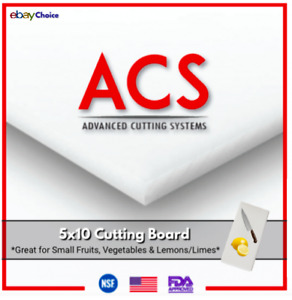 🇺🇸 White Plastic HDPE Cutting Board Perfect For Kitchen | Restaurant 5