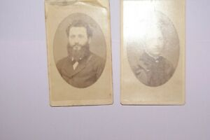 1870#x27;s vintage antique photographs of Valdermar and Lily Abel cabinet photos $4.25