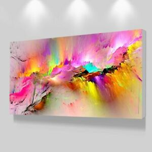Oil Painting Canvas Living Room Wall Modern Decorative Pictures Abstract Art $30.13