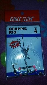 Eagle Claw Freshwater Fishing Crappie Rig Size 4 1 Pack 06010 004