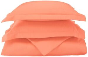 3-pc King/Cal King Coral 100% Egyptian Cotton Duvet Cover Set 800 Thread Count