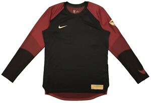 NIKE NBA Finals Dri Fit Warm Up Long Sleeve Shirt AH4029 677 Red MEN'S LARGE $38.49