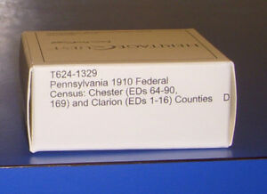 1910 Pennsylvania Federal Census Microfilm PA Chester Clarion County Genealogy