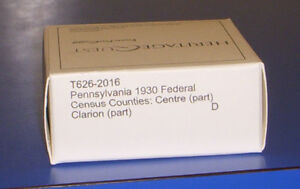 1930 Pennsylvania Federal Census Microfilm PA Centre Clarion County Genealogy