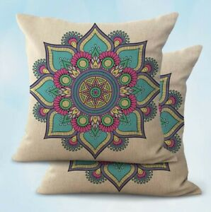 2PCS lotus flower mandala yoga meditation cushion cover wholesale