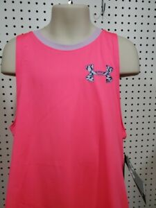 Girls Kids Youth Under Armour Pink lilac Tank Top NEW Size XL $11.99