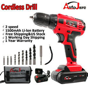 New 18V/20V Max Powerful Electric Cordless Drill Li-Ion Battery Charger 2-Speed