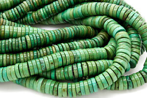 Tibet Turquoise Heishi Cube Rond Coin Barrel Flat Natural Gemstone Loose Beads