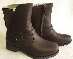 TEVA DELAVINA LOW MOSAIC DARK BROWN LEATHER WOMENS BOOTS 1012461 $59.99