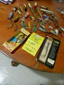 NICE GROUP 34 Collectible Vintage FISHING LURES For 1 Price!-BINBO