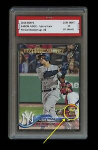 AARON JUDGE TOPPS FUTURE STARS ROOKIE CUP CARD 1ST GRADED 10 NEW YORK YANKEES