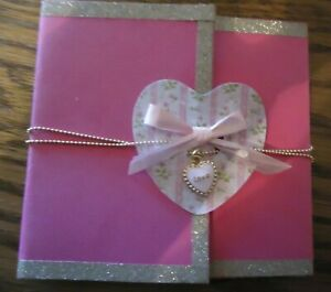 Handmade Love Card with Pink