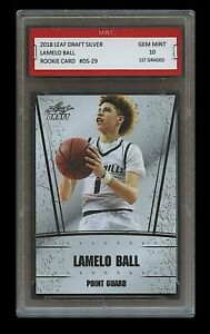 LAMELO BALL 2018 LEAF DRAFT SILVER 1ST GRADED 10 ROOKIE CARD RC Illawarra Hawks