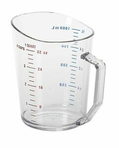 Cambro Camwear Clear Measuring Cup with Embossed Gradations 1 Qt $18.52