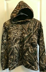 UNDER ARMOUR Boys Storm Hoodie Realtree CAMO Green Brown Loose Fit Size YLG $18.99