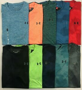 Mens Under Armour Heatgear The Tech Tee Polyester Shirt $21.99