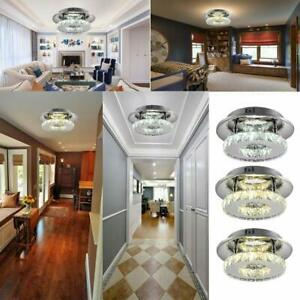 12W Modern Crystal Ceiling Light LED Pendant Lamp Flush Mount Chandelier Lamp BT