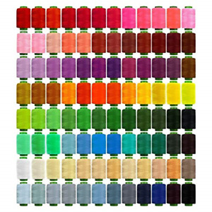 96 Colors Sewing Thread Assortment Coil 250 Yards Each Sewing Kit All Purpose $24.49