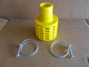 NEW YELLOW HONDA OEM STRAINER FOR 2quot; WATER PUMP INLET HOSE