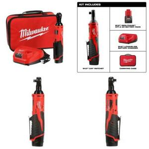 M12 12-Volt Lithium-Ion Cordless 38 in. Ratchet Kit with One 1.5 Ah Battery Ch