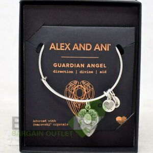 Alex And Ani A16EB101RS Guardian Angel Expandable Wire Bangle Rafaelian Silver $22.99