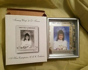 First Holy Communion 3 D Frame Tommy Wrap 8x10 Clear new