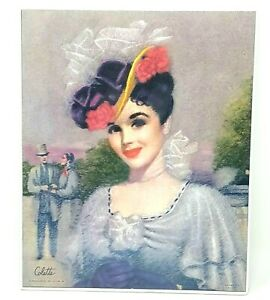 Vintage Art Print Victorian Lady Summer Dress Young Lady Colette 8.25 x 10 $9.00