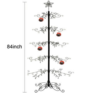 Christmas Ornaments Tree Display Metal Wrought Iron Stand 174 Hook 84