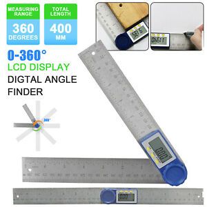 Digital Angle Finder Ruler 8 Inch Protractor 200mm Stainless Steel Angle Gauge $13.97
