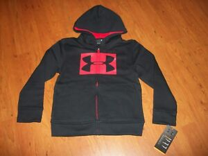 Under Armour boys zip up hoodie, sizes 4 or 5 black or gray $21.00