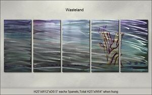 Modern Original Metal Wall Art Abstract Large Indoor Outdoor Decor From Artist