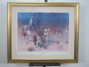 JAMES REYNOLDS LITHOGRAPH A Ways To Go And No Slicker SIGNED FRAMED NUMBERED $99.99