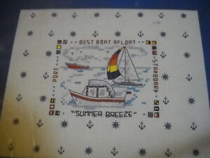Best Boat Stamped Cross Stitch Kit by Needles n Hoops 723 $7.99