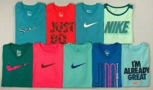 Girls Youth Nike Dri Fit Polyester Short Sleeve Shirt $14.99
